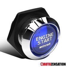 Blue Led Engine Starter Button Push Start Switch Ignition Kit DC 12V