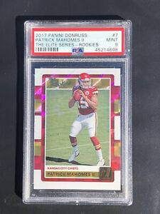 2017-Donruss-Panini-Patrick-Mahomes-RC-The-Rookies-7-PSA-9-Mint