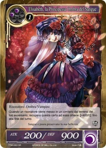 Elisabeth, Shadow Princess of Blood FoW Force of Will TTW083 Eng SR