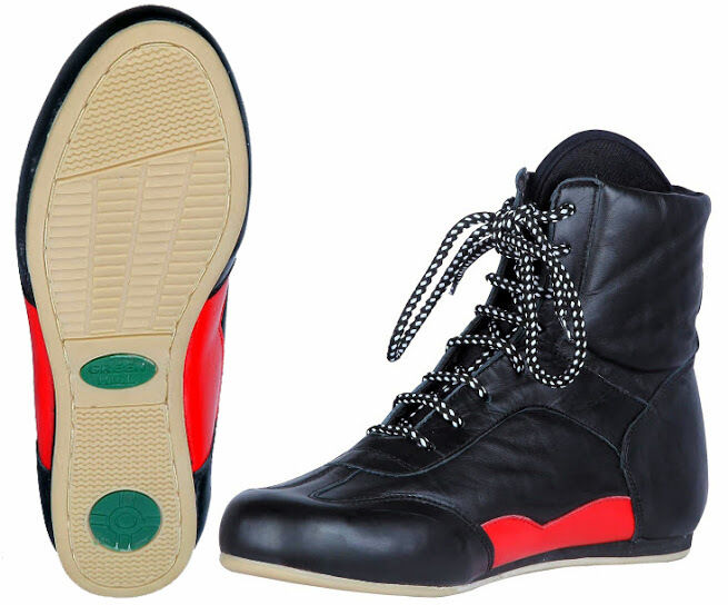 verdehill Boxeo Zapatos Cuero Caja De Arranque hombres formación corriendo lucha Agarre Negro