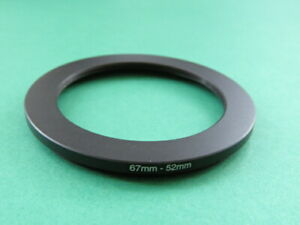67mm to 52mm Stepping Step Down Filter Ring Adapter 67mm-52mm