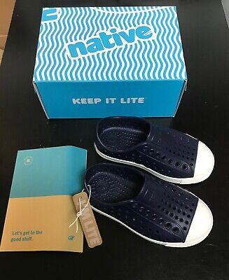 NWB Native Child/'s Kid/'s Jefferson Slip On Sneaker in Regatta Blue