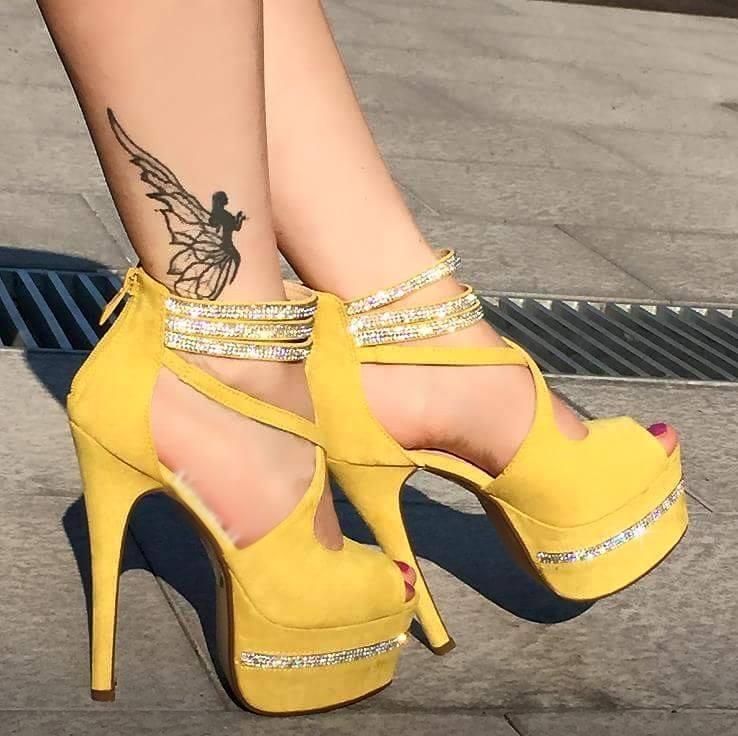 Women Slim High Heels Platform Back Zipper Zipper Zipper Sandals Peep Toe Stilettos shoes Sexy 46f673