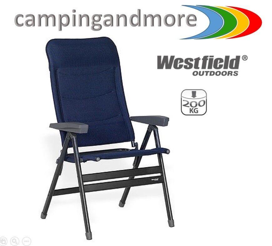 WESTFIELD chaise pliante Advancer XL DL Chaise de camping chaise à 200 kg Prix Recomhommedé  bleu