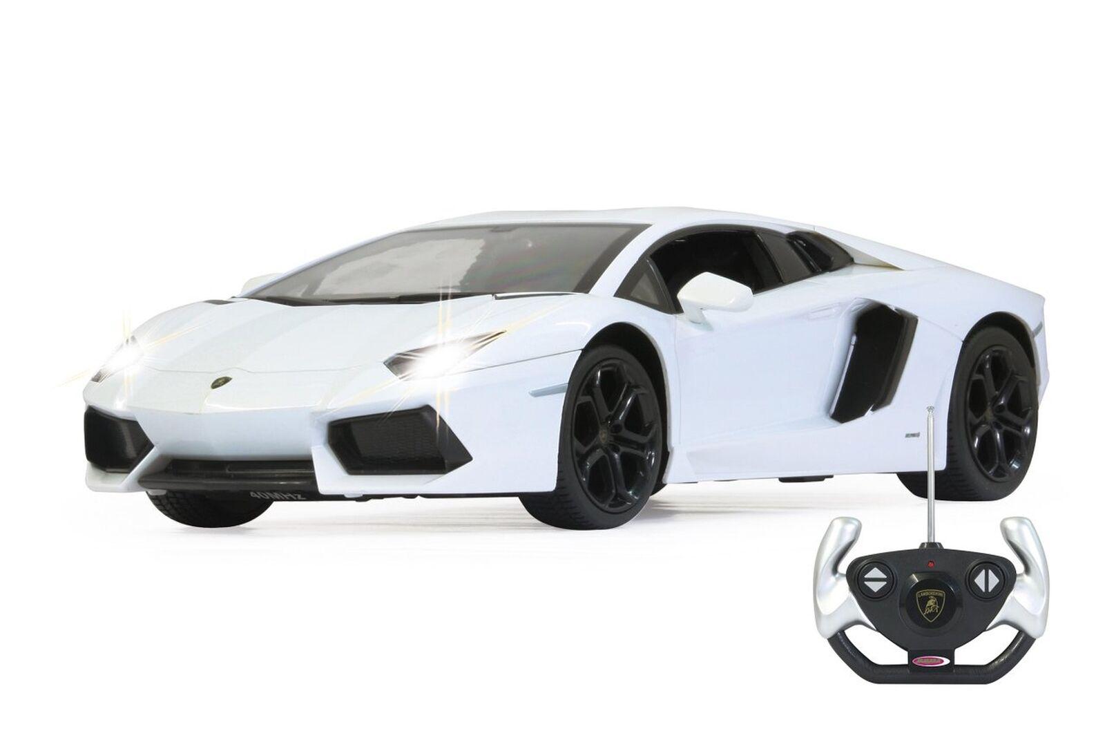 Jamara 404316 40 MHz 1 14 SCALA BIANCO  Lamborghini Aventador  LP700 Deluxe Auto
