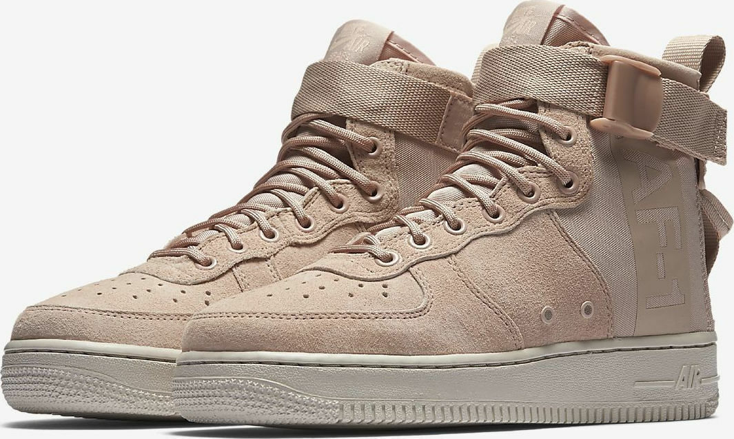NIKE WOMENS SF AF1 MID PARTICLE BEIGE AA3966-201 RETRO OG GIRLS AIR MAX NEW PINK