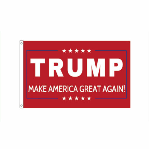 4pc Set Donald Trump for 2020 President Large Flag Keep America Great MAGA 3/'x5/'