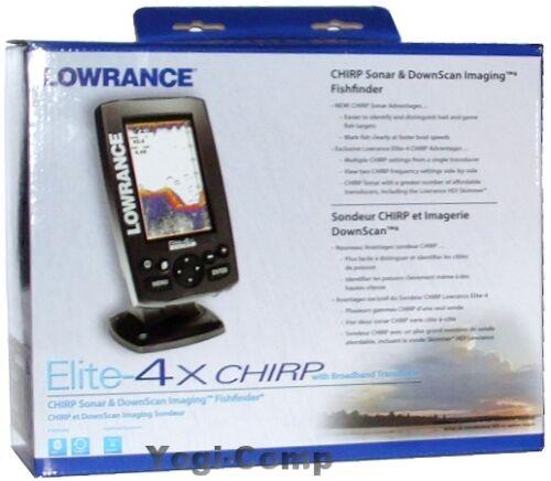 lowrance elite 4x chirp sonar fishfinder with 83 200 broadband transducer new ebay. Black Bedroom Furniture Sets. Home Design Ideas