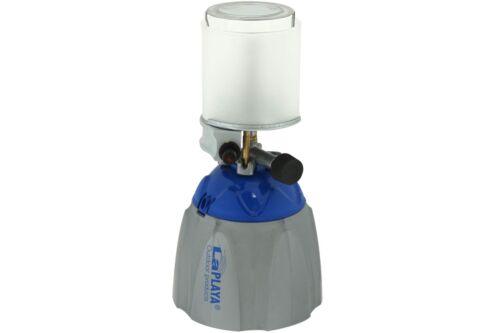 Camping Lampe a gaz LA PLAYA Bleu Gris Pour gaskartuschen Lampe Lanterne Lampe