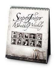 SUPER JUNIOR SuperJunior 2012 SM OFFICIAL Monthly & Weekly DESK CALENDAR NEW