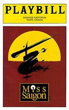 "Steven Pasquale ""MISS SAIGON"" Boublil and Schönberg 1999 Tempe, Arizona Playbill"