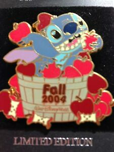 WDW-Stitch-Fall-Collection-Apples-Surprise-Release-LE-pin-BRAND-NEW-ON-CARD
