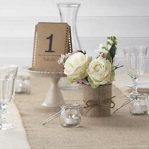 Crafts Hessian Burlap Jute Ribbon Craft Rustic Wedding Ceremony Tables Chairs Decor