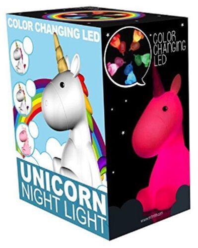 Licorne Veilleuse Couleur Changeante Led Humeur Lampe Rainbow Mise au Lit