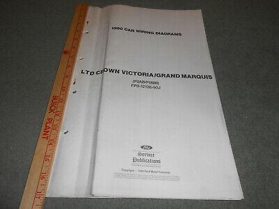 1990 FORD CROWN VICTORIA MERCURY GRAND MARQUIS FOLDOUT ...