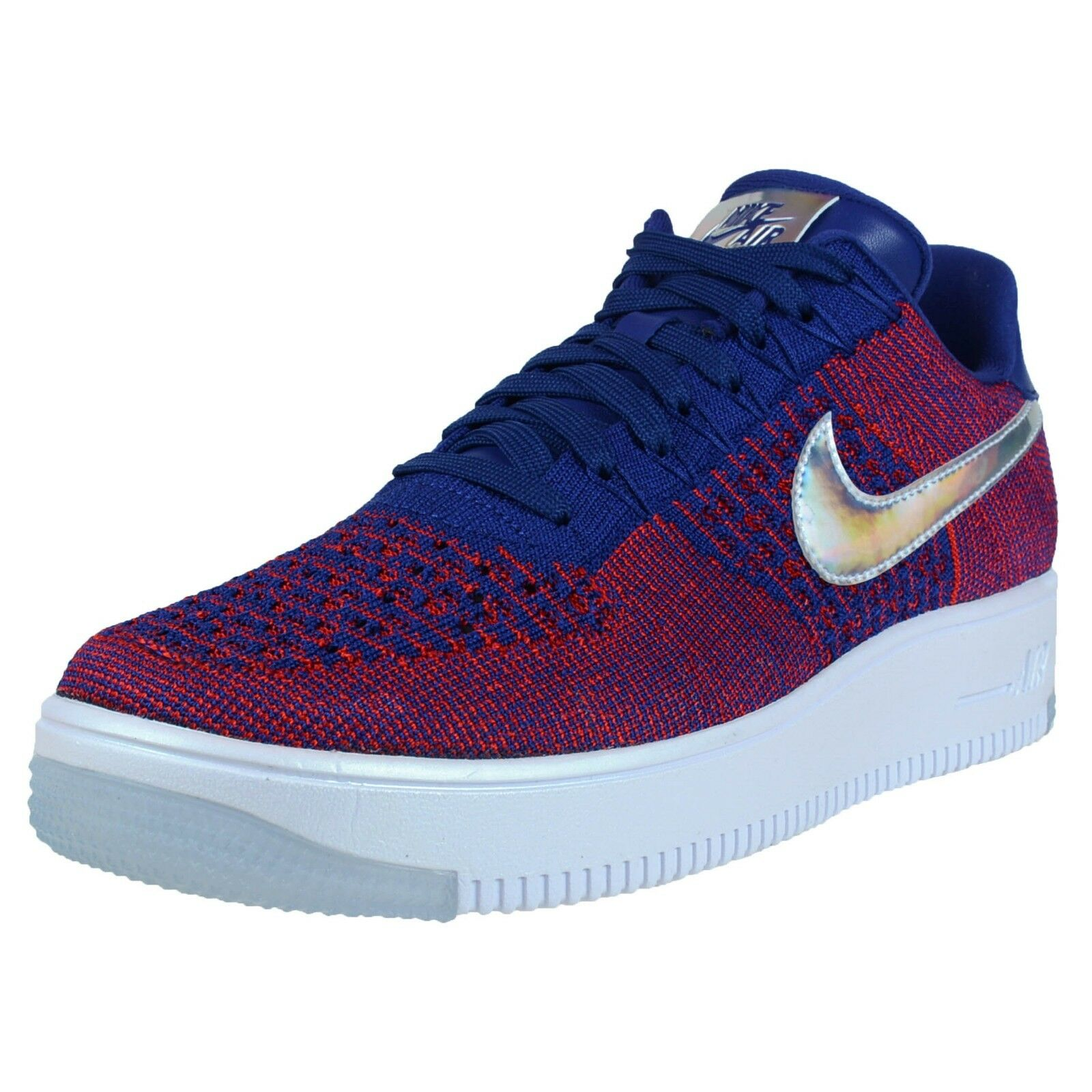 NIKE AIR FORCE 1 ULTRA FLYKNIT LOW PRM GYM RED DEEP ROYAL BLUE WHITE 826577 601