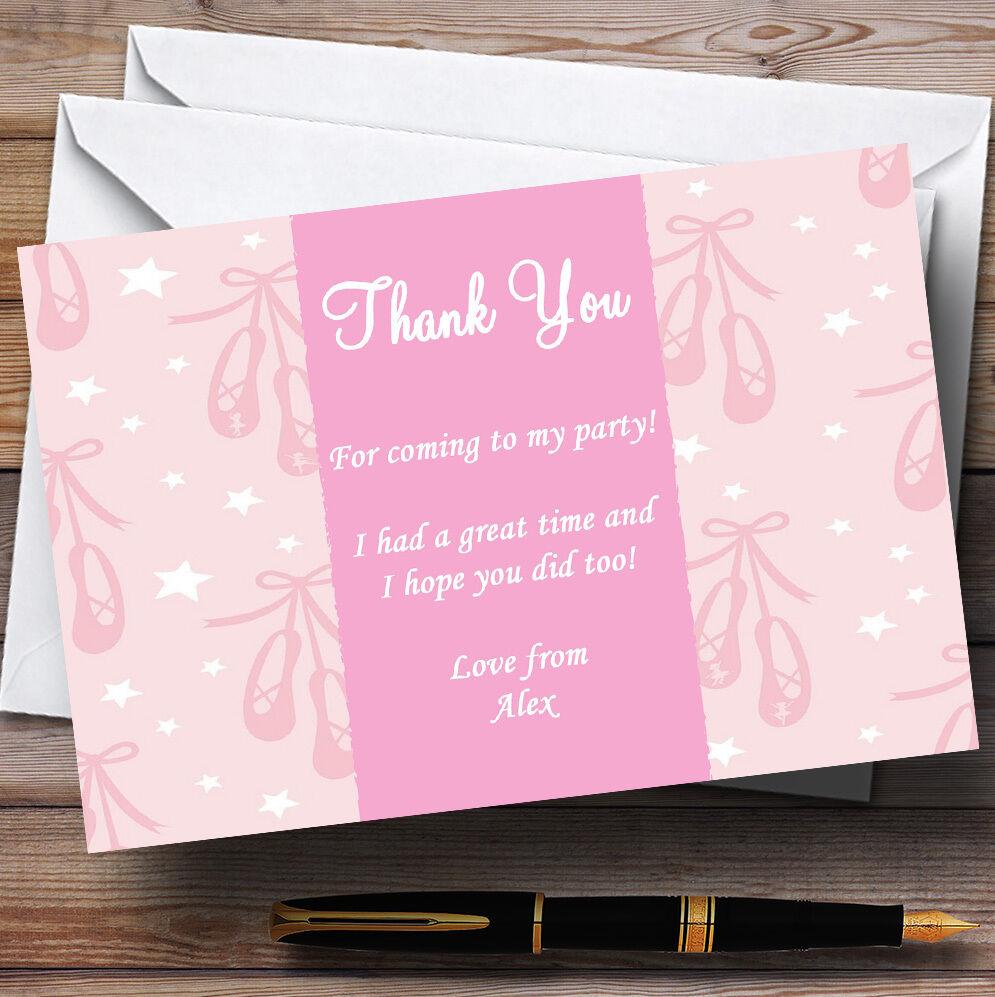 rosado rosado rosado De Ballet Personalizado Infantil Fiesta Tarjetas De Agradecimiento 47cfd1