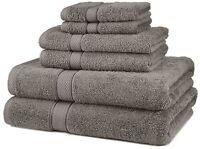 Pinzon 6-piece Egyptian Cotton Towel Set - Grey