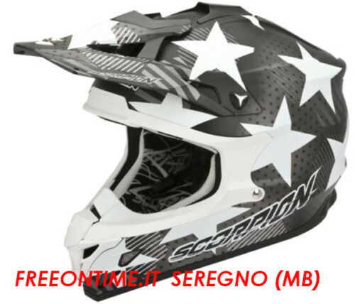 CASCO CROSS ENDURO QUAD MOTO SCORPION VX 15 EVO AIR STADIUM grigio AIRFIT tg L