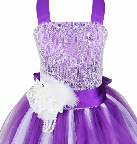 Kids Formal Flower Girl Dress Party Princess Wedding Bridesmaid Pageant Dresses