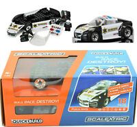 Scalextric Quick Build Police Car Slot Car 1/32 C3709 Working Siren & Roof Light