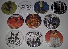 10 Sepultura button badges Thrash Metal Arise Morbid Visions Bestial Devastation