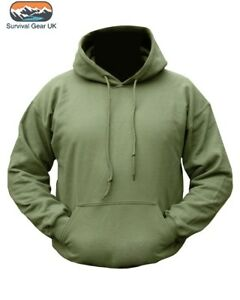 Pre-Shrunk-Mens-Military-Hoodie-Olive-Green-Camouflage-Army-Hooded-Top-S-2XL