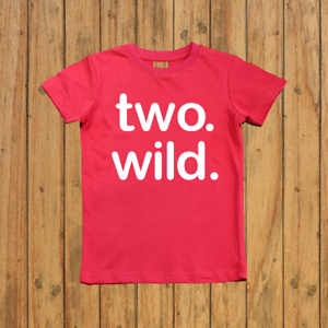 Image Is Loading Boys Two Wild 2nd Birthday Shirt Year