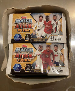 Topps Match Attax Extra Football Trading Cards 2019/20 50 Sealed Packs