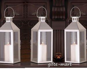 "3 bulk Silver 15"" tall Candle holder Lantern malta lamp wedding table decoration"