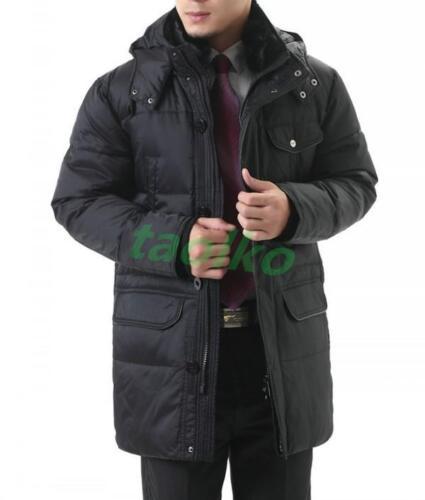 Mens Winter  Warm Duck Down Coat Jacket Hooded  Parka Overcoat Puffer Outwear