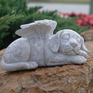 Design toscano cane memorial 39 cane angelo 39 cucciolo statua for Ornamenti giardino