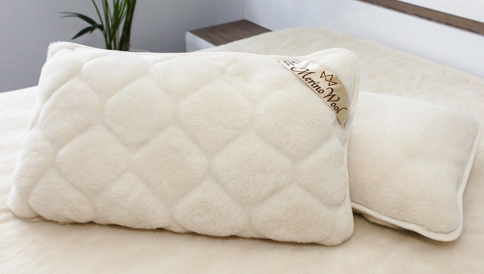 CASHMERE 100% Merino Wool Pillow 23  x 36    58 x 92cm WOOLMARKED  zippeed cover