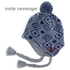 af6aaa9aac9 NEW Adidas Originals Mercer Ballie Pom Beanie Winter Cap Hat Blue Yellow  Q45351