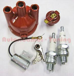 KIT-ACCENSIONE-FIAT-500-R-126-Puntine-Condensatore-Calotta-Spazzola-Candele