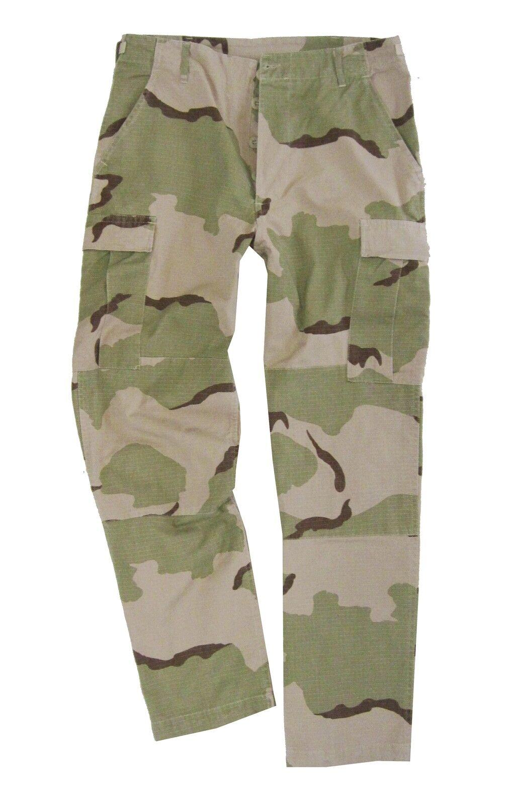 DESERTO CAMO BDU STOP Pantaloni - tutte le Taglie Cotone Combattimento Militare