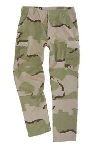 DESERTO-CAMO-BDU-STOP-Pantaloni-tutte-le-Taglie-Cotone-Combattimento-Militare