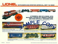 1978 Lionel Trains Service Station Special Promotional Flyer 1 Page