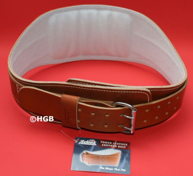 NEW Schiek Model L2006 Power Contour Leather Padded WeightLifting Belt FREESHIP