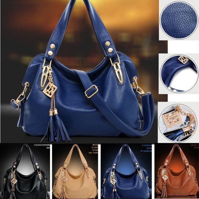 Women's Ladies PU Leather Shoulder Bag Satchel Cross Body Tote Handbag Hobo