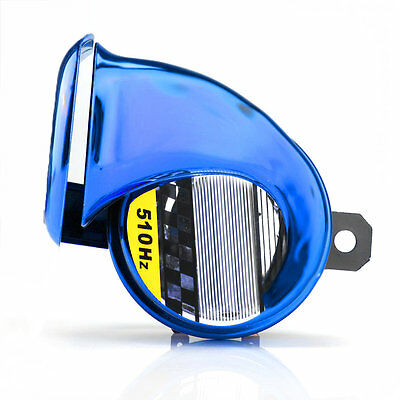 Blue 12V Mini Loud Electronic Snail Horn For AUTO Motorcycle Loud Voice Speaker