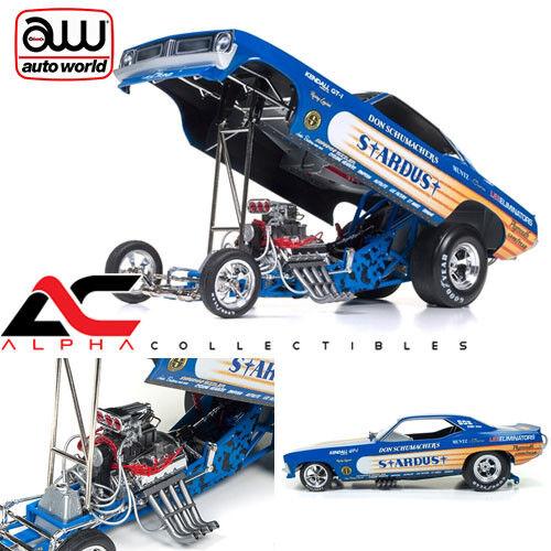 Autoworld AW1179 1 18 Don Schumacher Stardust Plymouth Cuda Asociación Nacional de Hot Rod Coche Diverdeido