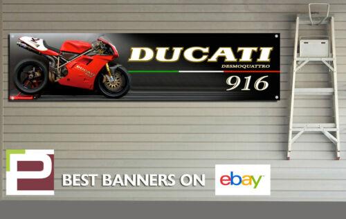 Garage 2000mm x 500mm Ducati 916 Motorbike Large Banner for Workshop Pit Lane