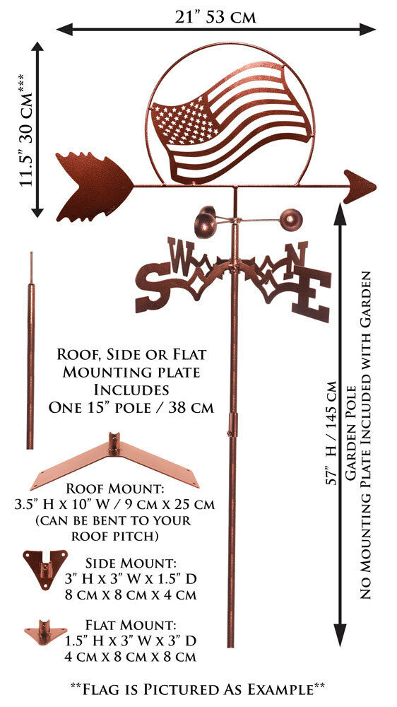 SWEN Products Farrell Series FARRELL FLYING PIG PIGGY Steel Weathervane