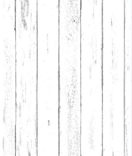 ft Vinyl Vintage White Wood Plank Wallpaper Peel and Stick  for Bedroom 24.3sq