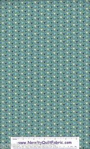 Catalina-Pin-Dot-Floral-Blue-Flower-FLANNEL-Novelty-Quilt-Fabric-BTY