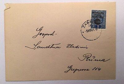 Brief Kroatien Ndh Königreich Serben Kroaten Slowenen 1941 16x11.5 Cm A14205 Hindernis Entfernen Kroatien