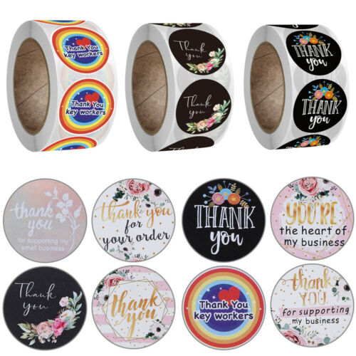 Sealing Craft Gift Paper Sticker Thank You Stickers Self Adhesive Flower labels