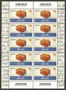 Schreibanlässe - Danke - Zehnerbogen (10 x 70 Cent) - postfrisch - Mi.Nr. 3386 - Gaildorf, Deutschland - Schreibanlässe - Danke - Zehnerbogen (10 x 70 Cent) - postfrisch - Mi.Nr. 3386 - Gaildorf, Deutschland