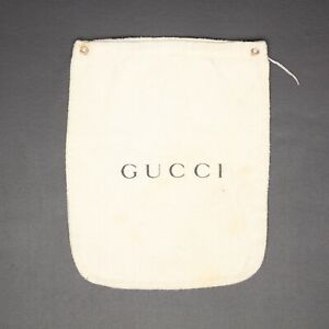 8069b3ec089 Gucci Flannel Wallet Belt Dust Cover 9x7 Cream Gray Cotton Italy ...